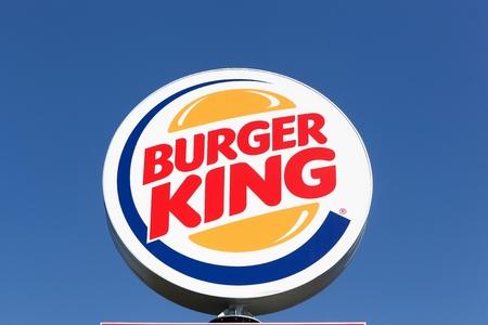 Aalborg, Denmark - May 8, 2016: Logo of the fast food chain Burger King. Burger King is a global chain of hamburger fast food restaurants