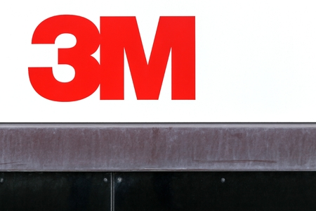 conglomerate: Aarhus, Denmark - May 16, 2016: 3M is an American multinational conglomerate corporation based in Maplewood, Minnesota. 3M produces adhesives, abrasives, laminates and passive fire protection