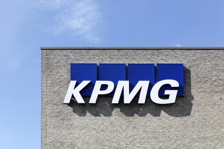 auditors: Skejby, Denmark - May 16, 2016: KPMG offices in Denmark KPMG is one of the largest professional services companies in the world and one of the big four auditors