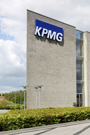 auditors: Skejby, Denmark - May 16, 2016: KPMG offices in Denmark. KPMG is one of the largest professional services companies in the world and one of the big four auditors