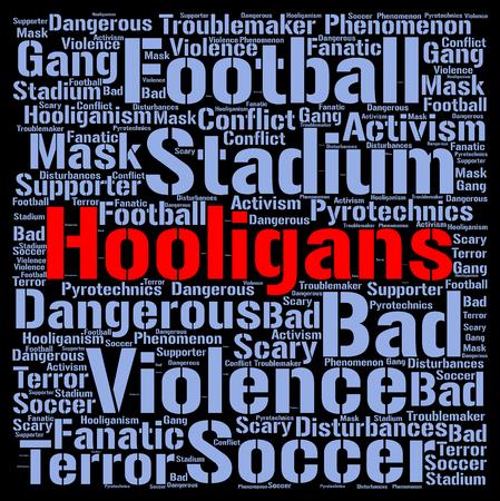 ultras: Hooligans word cloud concept Stock Photo