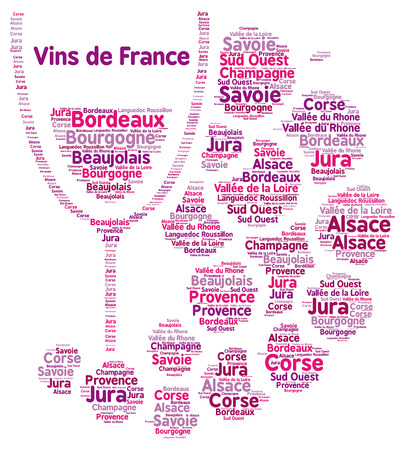 word: French wines word cloud