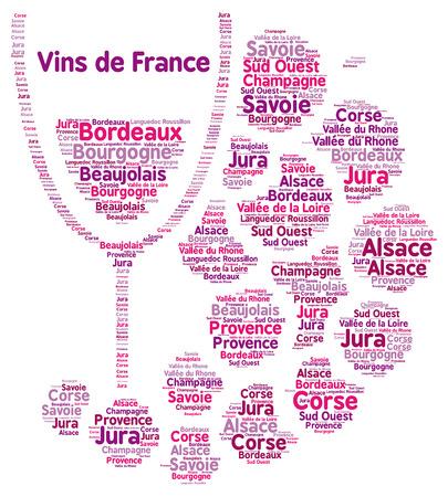 Vini francesi, parola, nuvola Archivio Fotografico - 58325340