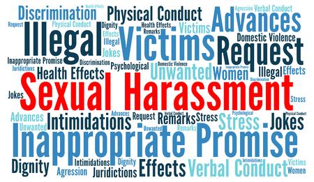 Sexual harassment word cloud concept Фото со стока - 58325354