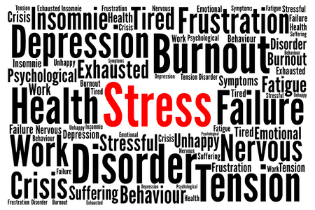 burn out: Stress word cloud concept
