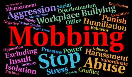 Mobbing word cloud concept Stock Photo