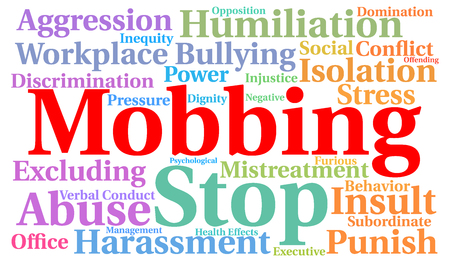 Mobbing word cloud concept Banque d'images