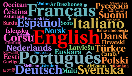 multilingual: Multilingual languages word cloud concept