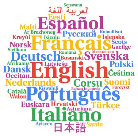multilingual: Multilingual languages word cloud concept