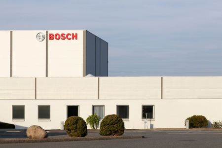 esbjerg: Esbjerg, Denmark - May 6, 2016: Bosch manufactory. Bosch is a German multinational engineering and electronics company headquartered in Germany. It is the worlds largest supplier of automotive components