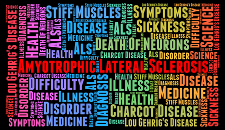 neurone: Amyotrophic Lateral Sclerosis word cloud concept