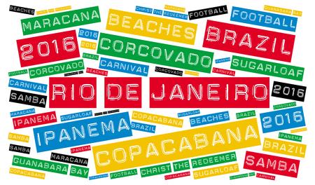 janeiro: Rio de Janeiro word cloud