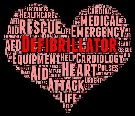 revive: Defibrillator word cloud concept