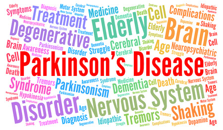 Parkinson's disease word cloud concept