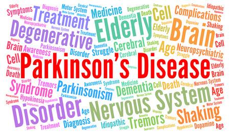 parkinson's: Parkinsons disease word cloud concept