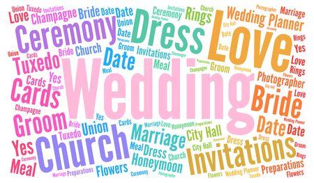 wedding bride: Wedding word cloud concept