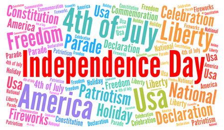 미국 독립 기념일 7 월 4 일 단어 구름