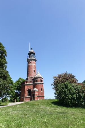 navigational light: Lighthouse of Kiel Holtenau in Germany Stock Photo