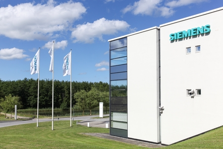 Aarhus, Denmark - June 11, 2016: Siemens building. Siemens is a german multinational. The principal divisions of the company are industry, energy, healthcare, infrastructure and cities Editorial