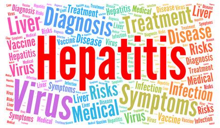 contagious: Hepatitis word cloud concept