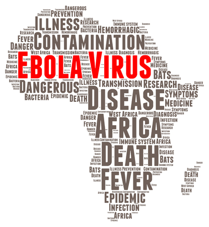 ebola: Ebola virus word cloud concept