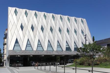 ethnography: Geneva, Switzerland - August 14, 2016: Geneva Ethnography Museum also called MEG. Geneva Ethnography Museum is one of the most important ethnographic museums in Switzerland