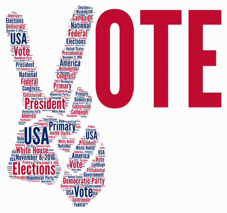 Presidential elections 2016 in USA word cloud