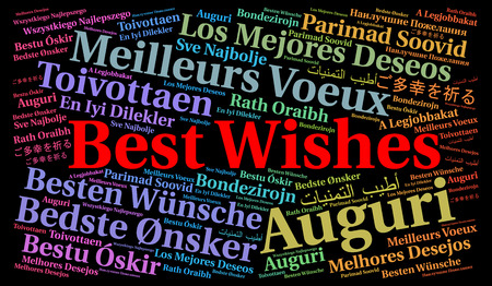 Best wishes in different languages Stock Photo