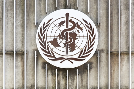 Geneva, Switzerland - August 14, 2016: The World Health Organization also called WHO is a specialized agency of the United Nations that is concerned with international public health Éditoriale