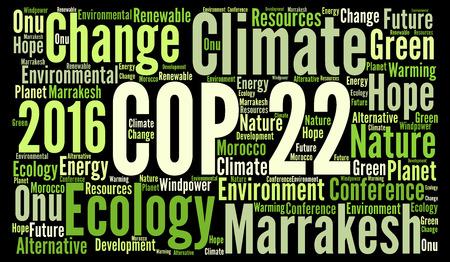 onu: COP 22 in Marrakesh, Morocco word cloud