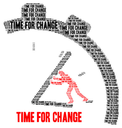 Time for change illustration Banque d'images