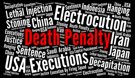 penalty: Death penalty word cloud concept
