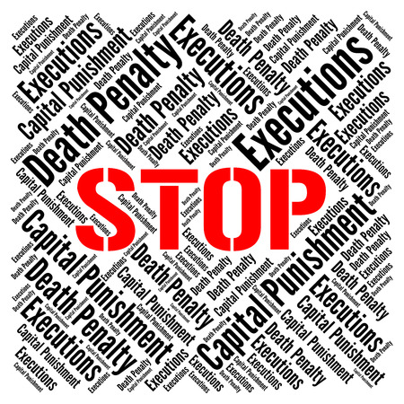 Stop death penalty Stock Photo