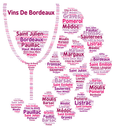 bordeaux: Wine of Bordeaux word cloud