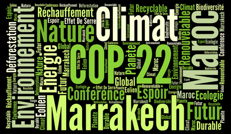 onu: COP 22 in Marrakesh, Morocco with french text