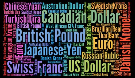 currencies: Currencies word cloud concept