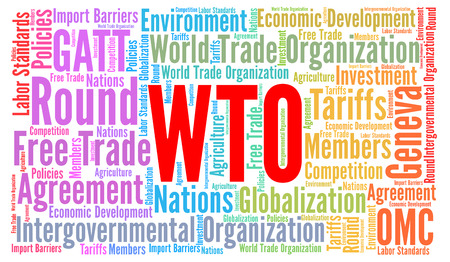 tariff: WTO word cloud concept Stock Photo