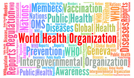 coordinating: World health organisation word cloud Stock Photo