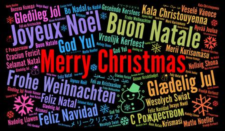 Frohe Weihnachten Verschiedene Sprachen Kostenlos.Struktur Der Worter Weihnachtskarte In Verschiedenen