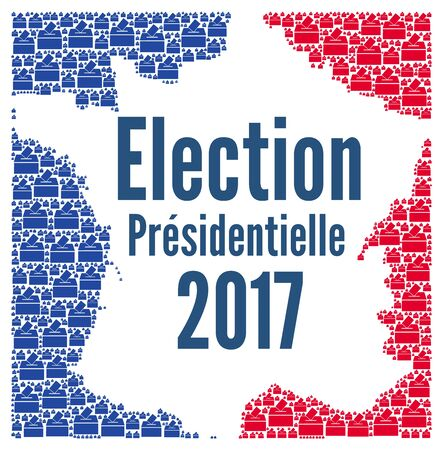 presidential: French presidential election 2017 concept