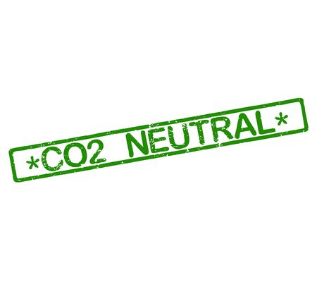 co2 neutral: Rubber stamp with text CO2 neutral
