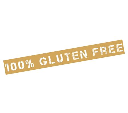 coeliac: Rubber stamp label with text 100% gluten free