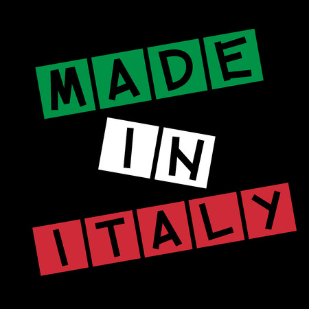 certify: Made in Italy Stock Photo