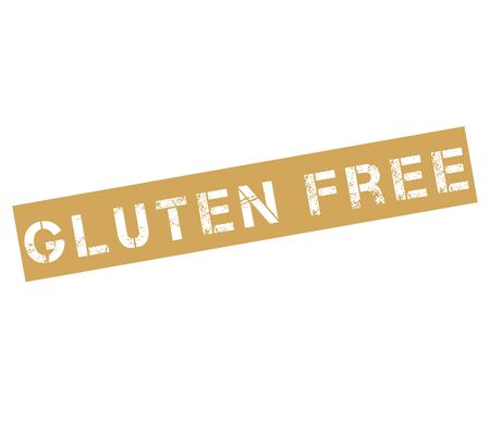 coeliac: Rubber stamp with text gluten free Stock Photo