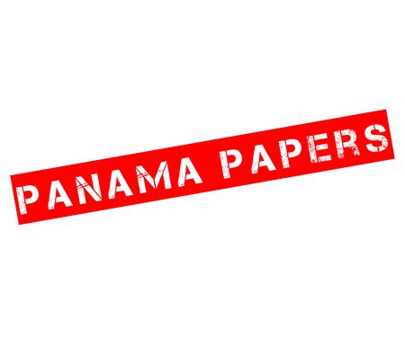sello de goma con el texto de los documentos Panamá