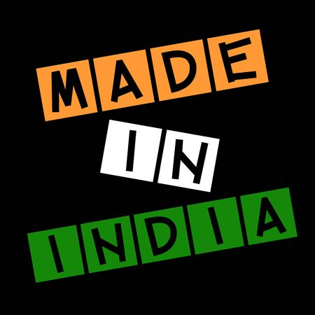certify: Made in India label Stock Photo
