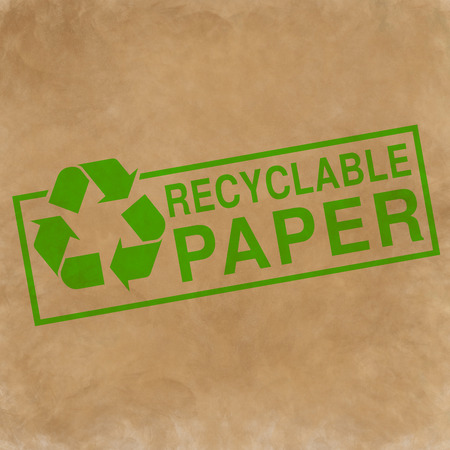 reciclable: papel reciclable