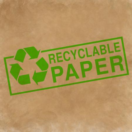 reciclable: papel reciclable