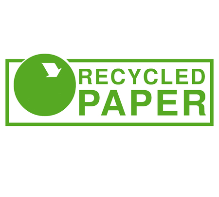reciclable: símbolo de papel reciclable