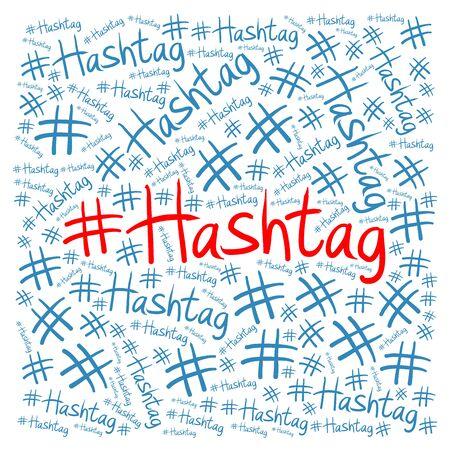 microblogging: Hashtag illustration concept